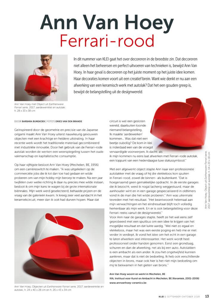 Ann Van Hoey Ferrari-rood